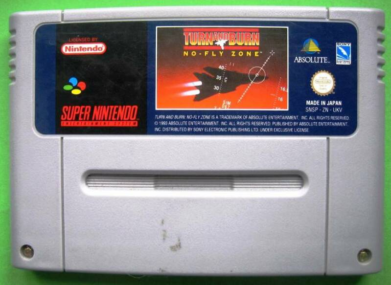 Turn and Burn No Fly Zone - SNES