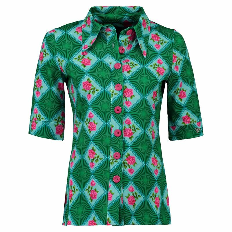 TANTE BETSY BUTTON SHIRT DOILY ROSE