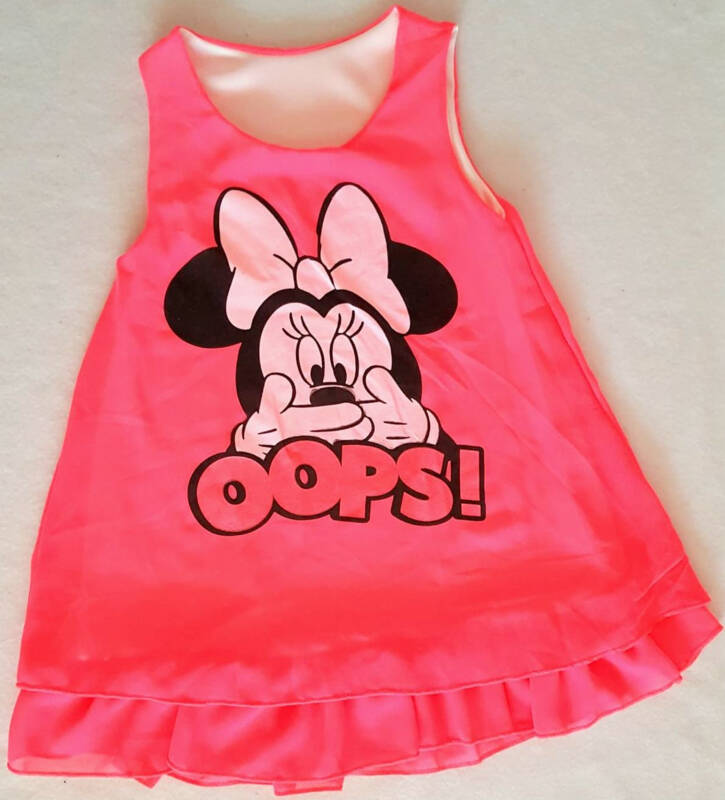 Tuniek minnie fluor roze