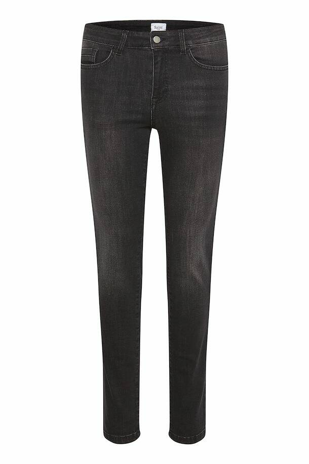 Saint Tropez Molly mw slim jeans dark grey