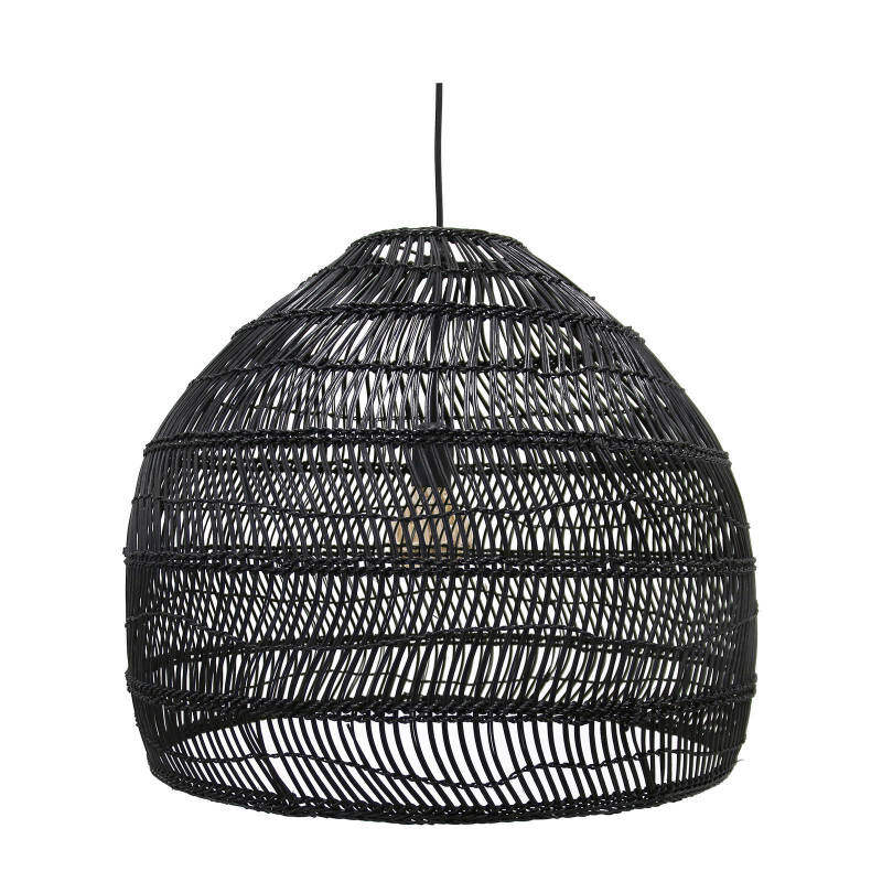 WICKER HANG LAMP BLACK