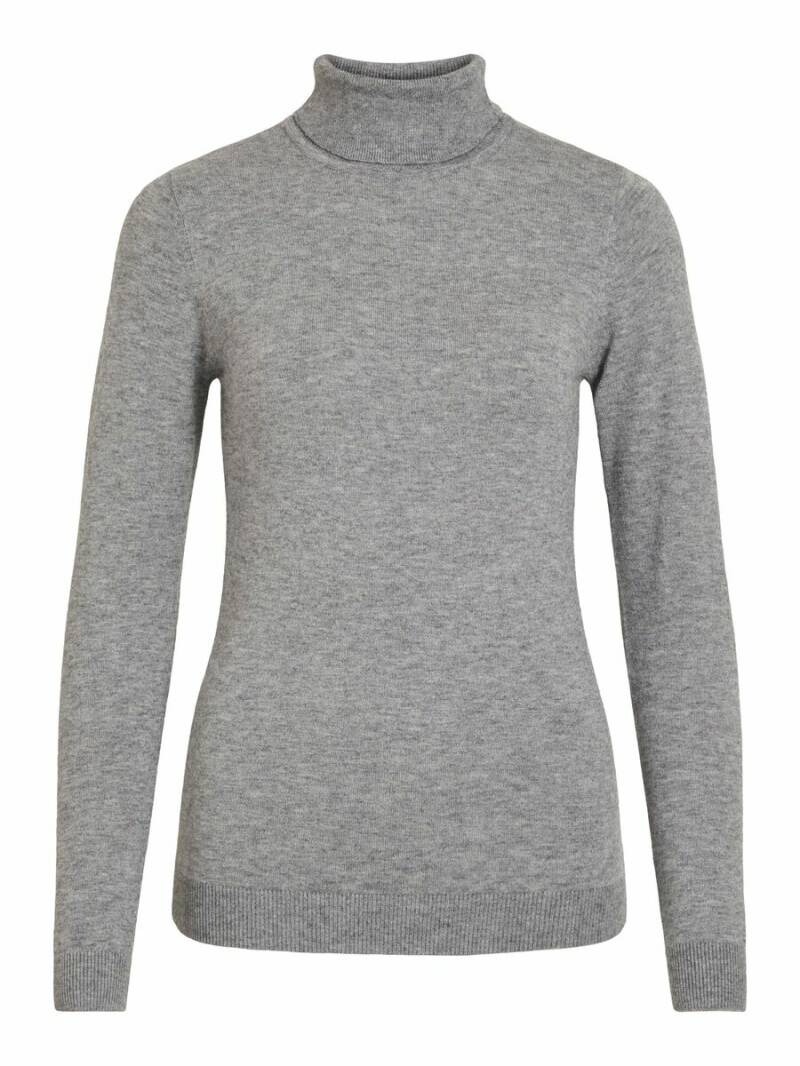 OBJECT Thess ls rollneck knit pullover grey