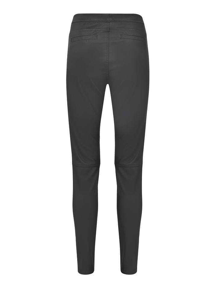 Knit-ted leather pants