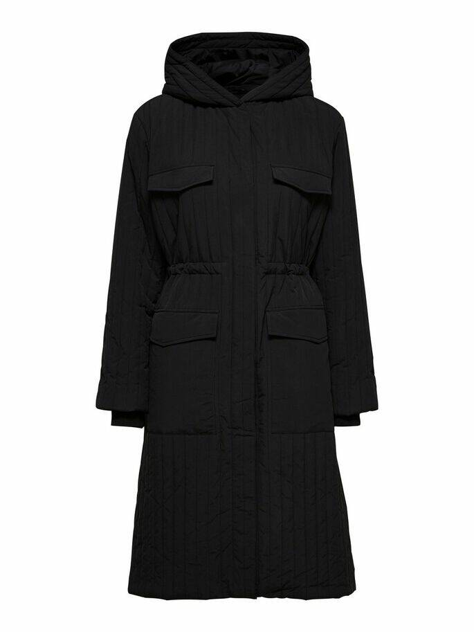 SELECTED Lory ls quilted coat/padded jacket black