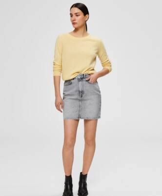 SELECTED Helena mw blast grey denim skirt w