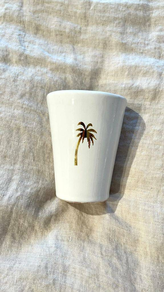 LOFT the golden PALM coffee cup