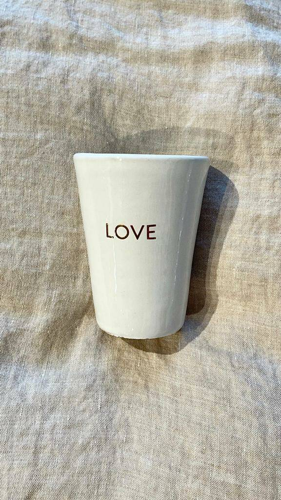 LOFT the golden LOVE coffee cup