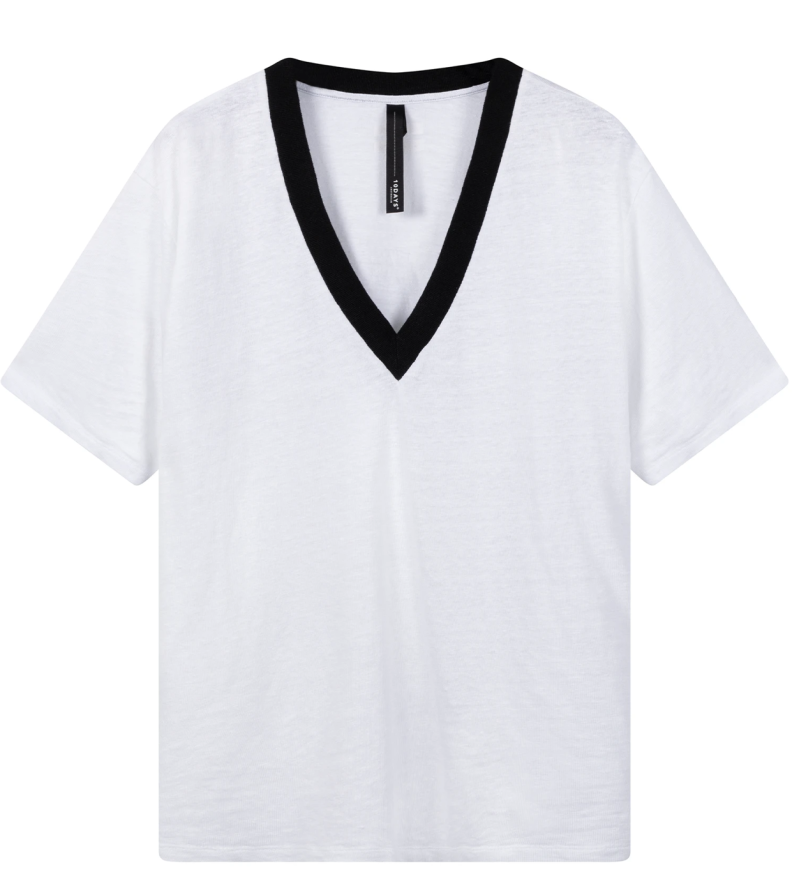 10DAYS Tee contrast white