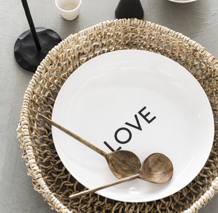 LOFT the ceramic bowl love black, white/sand bowl