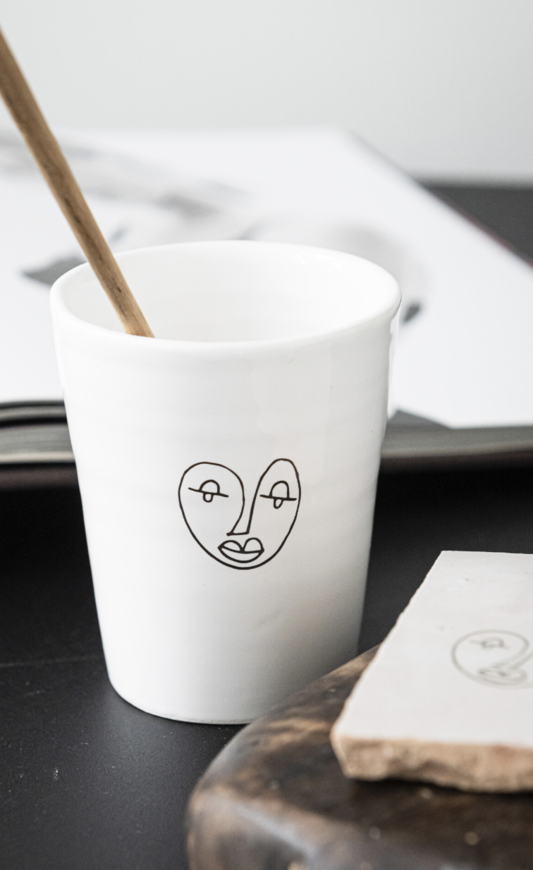 LOFT the face coffee cup