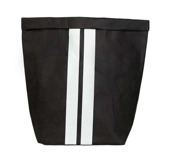 10DAYS Paper bag medium black/white