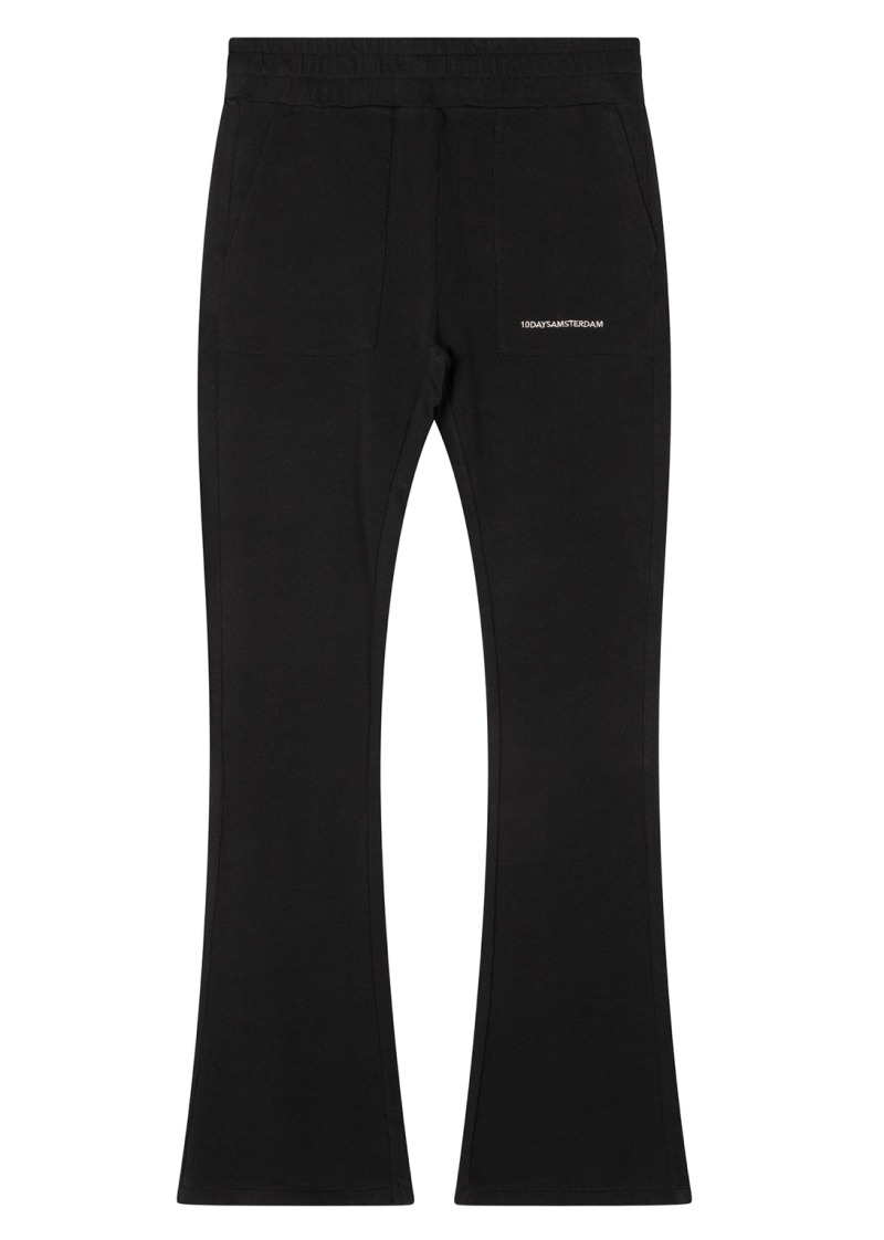 10DAYS Flared jogger black