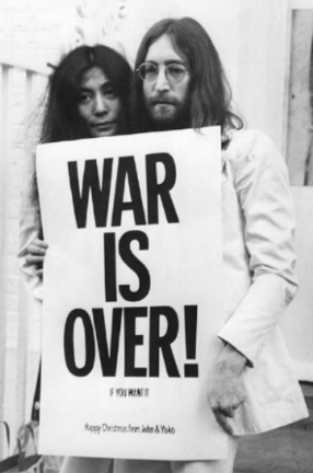 ART COLLECTION War is over poster