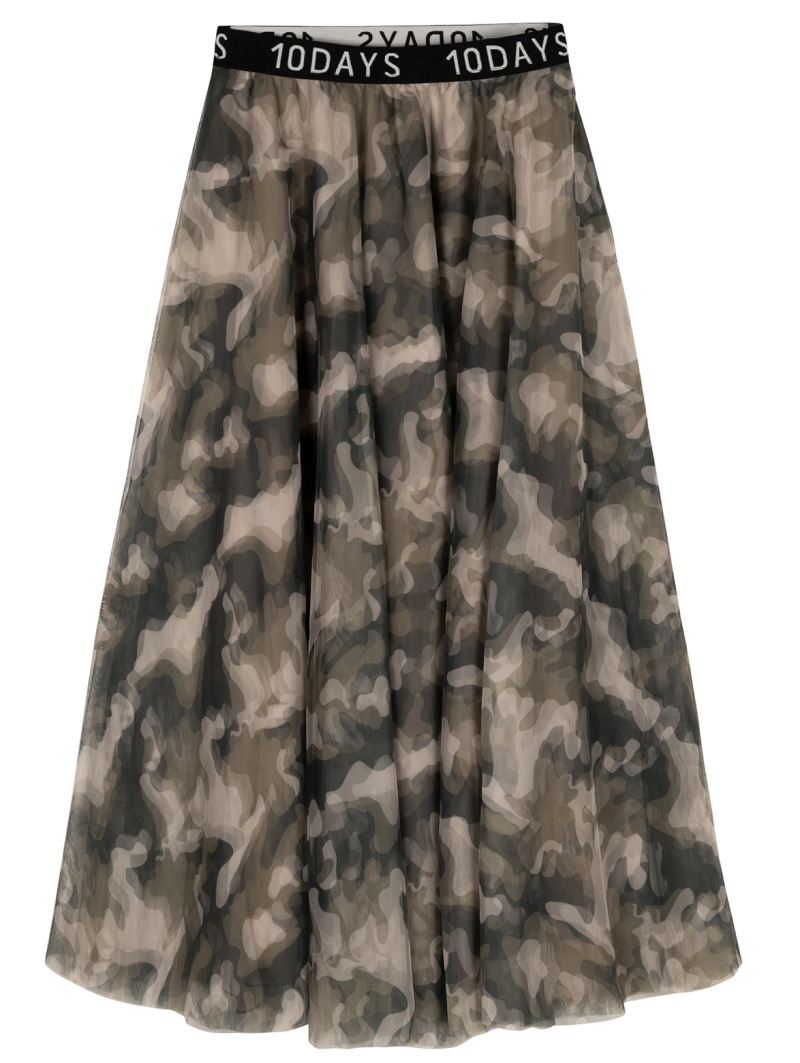 10DAYS Tulle skirt camo
