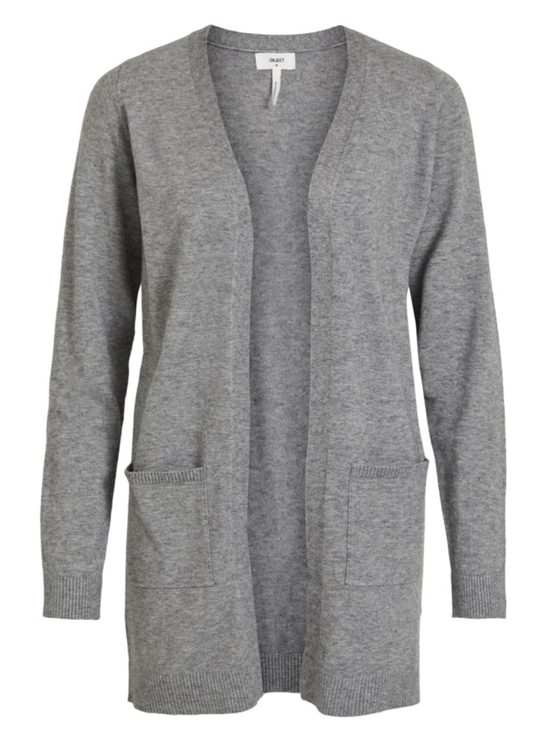 OBJECT Thess l/s cardigan grey