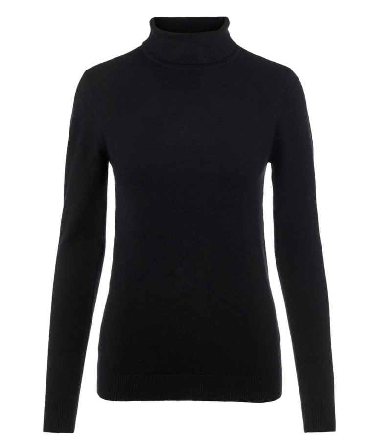 OBJECT Thess l/s rollneck knit pullover black