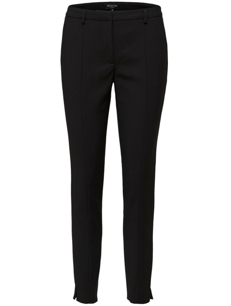 SELECTED Muse fie cropped mw pant black