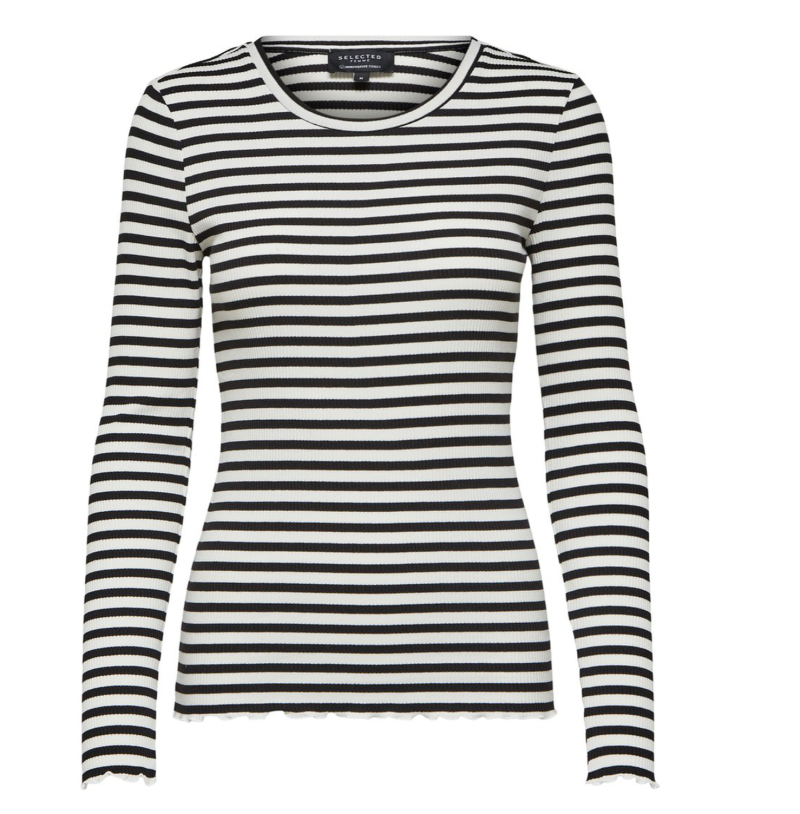 SELECTED Standard tee striped