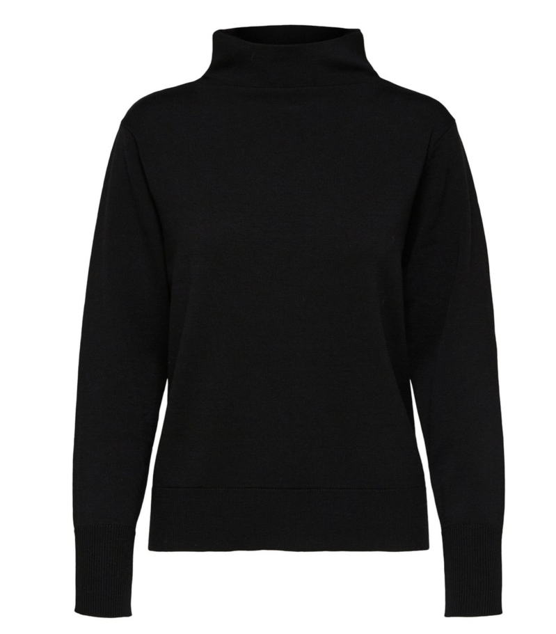 SELECTED Knit t-neck black