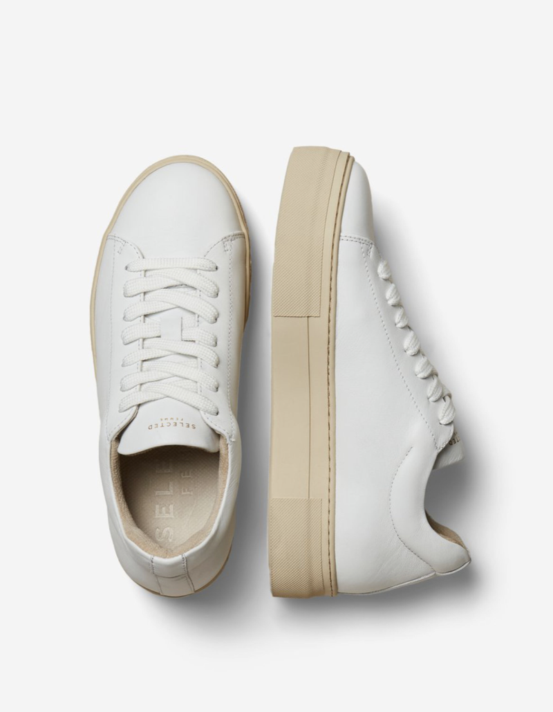 SELECTED HAILEY LEATHER TRAINER