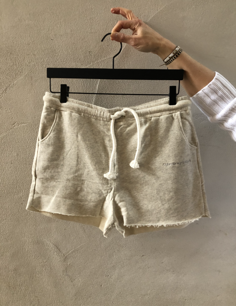 10DAYS Shorts fleece soft white melee