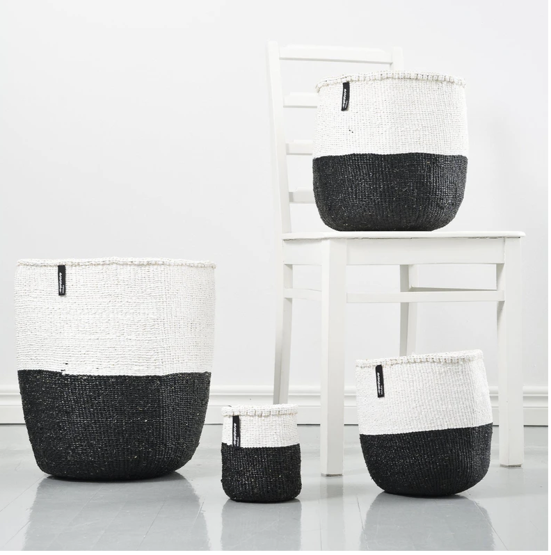 BASKET WHITE AND BLACK 50/50 XS-M