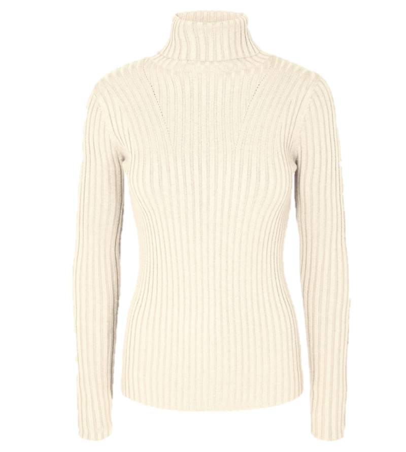 MSCH Erica slim roll neck color egret