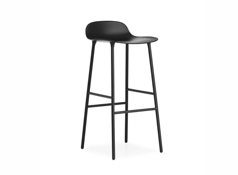 Black barstool Norman