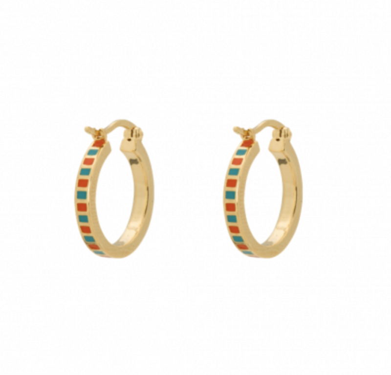 Anna + nina mummy colored earring gold