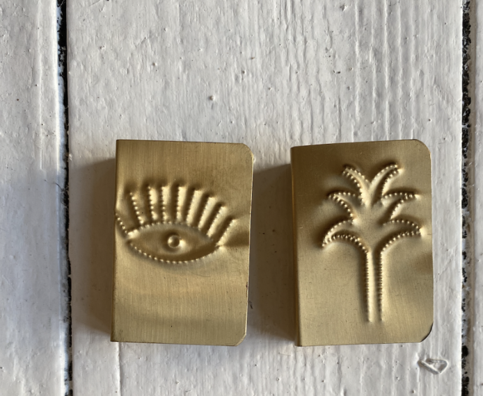 Golden brass accessories