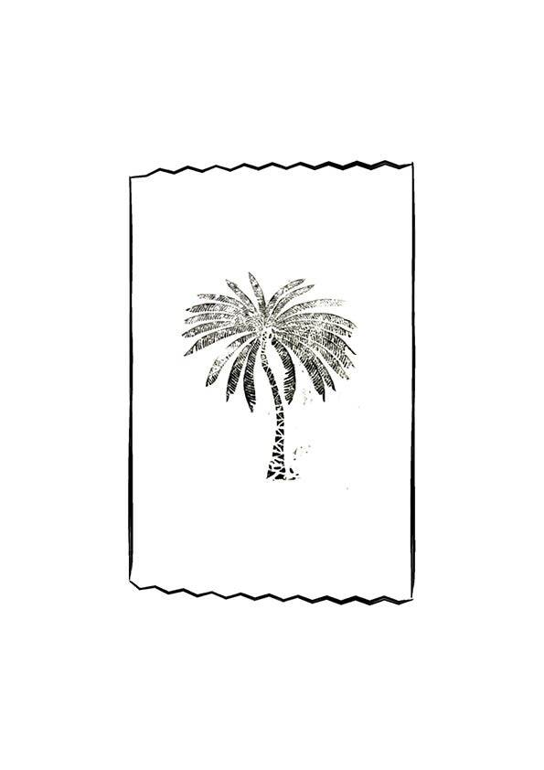 LOFT the palm tree black poster