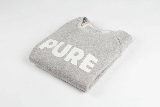 Kuyichi ruby grey melange pure sweater
