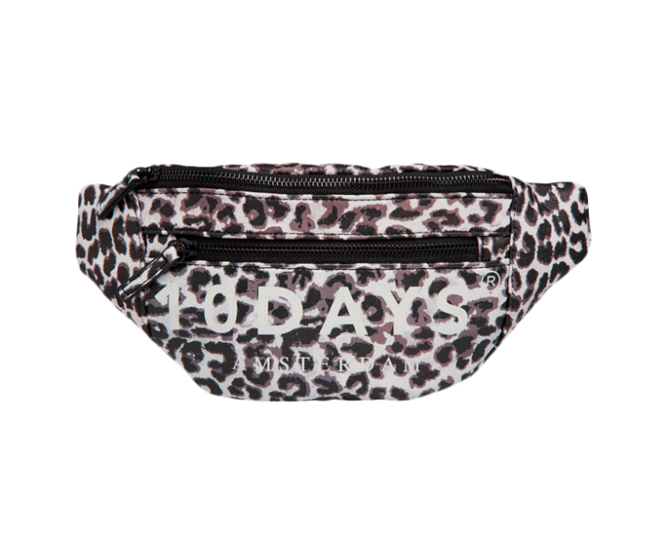 10DAYS Fanny pack leopard white winter