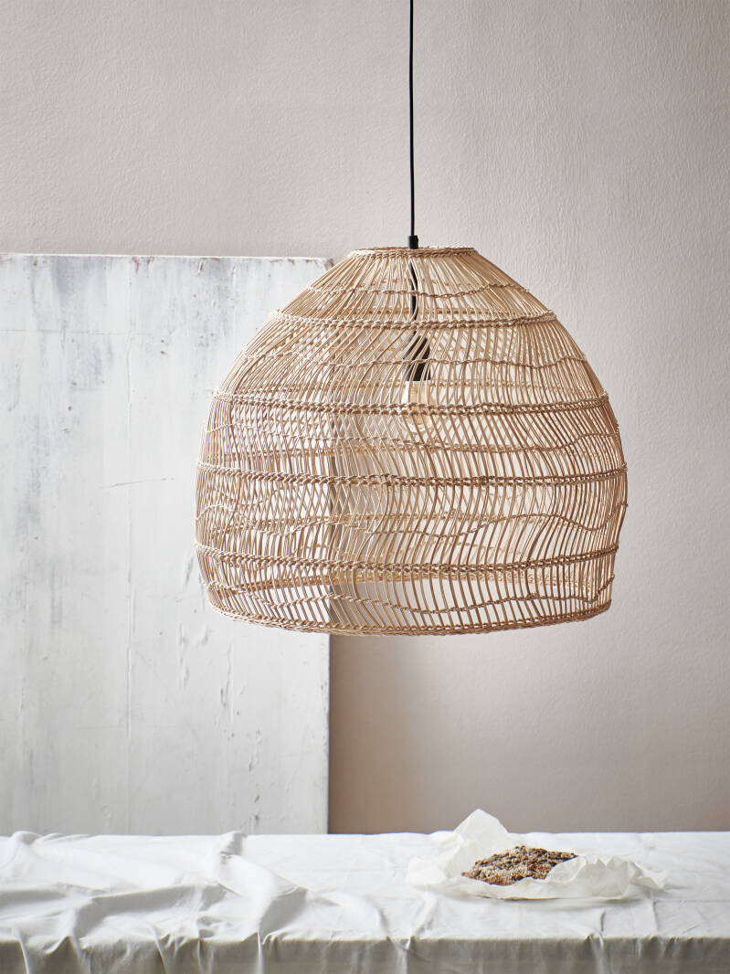 Wicker rottan hanging lamp natural