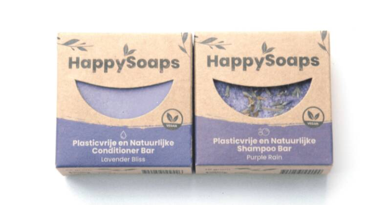 HappySoaps Set Shampoo en conditioner Lavendel