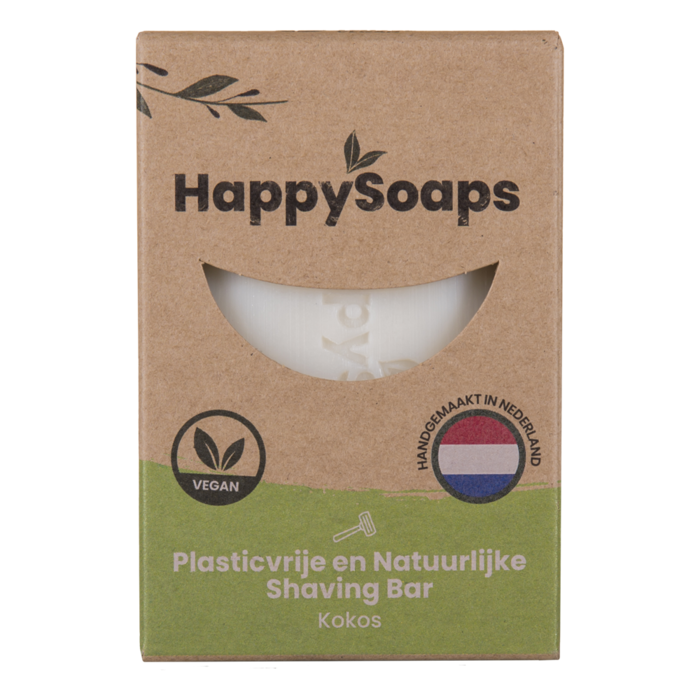 HappySoaps shaving bar kokos