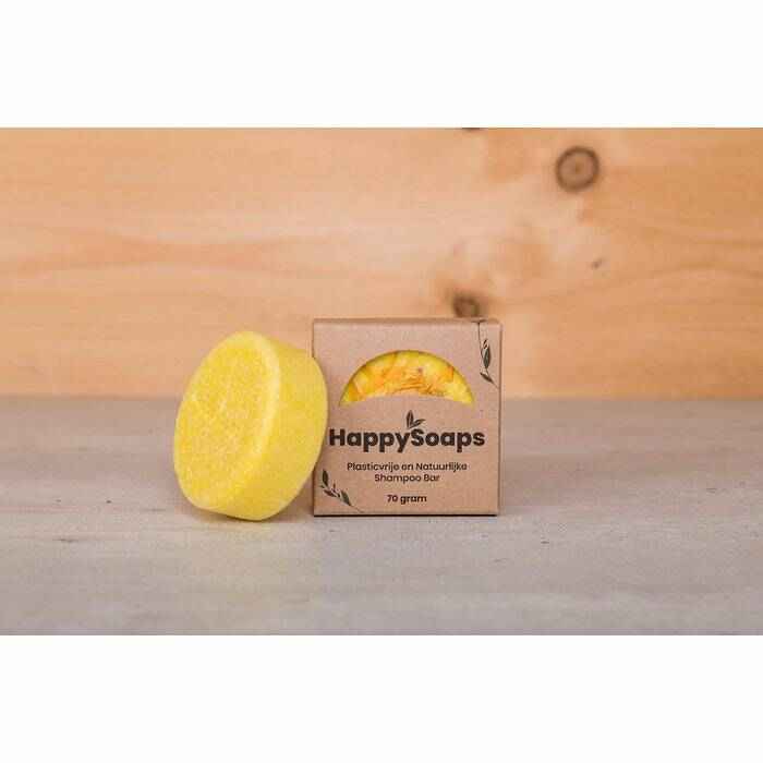 HappySoaps Shampoo Bar - Chamomile Down & Carry On - 70 gram
