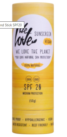 We Love the Planet vegan Zonnebrand Stick SPF20