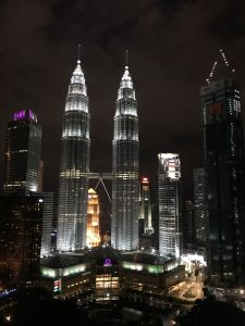 Petronas twintowers by night