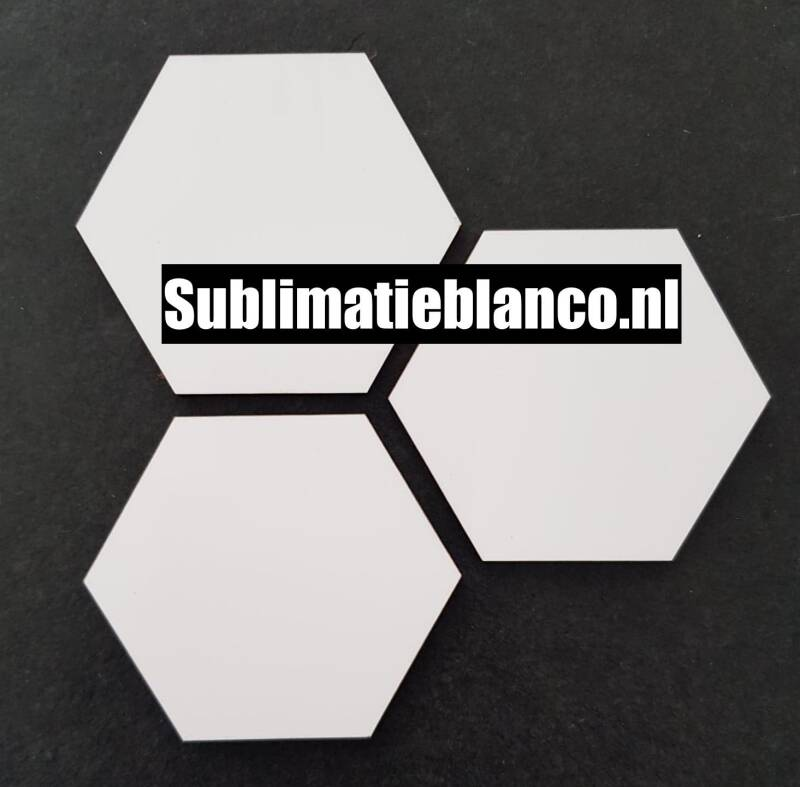 Sublimatie hexagon blanco