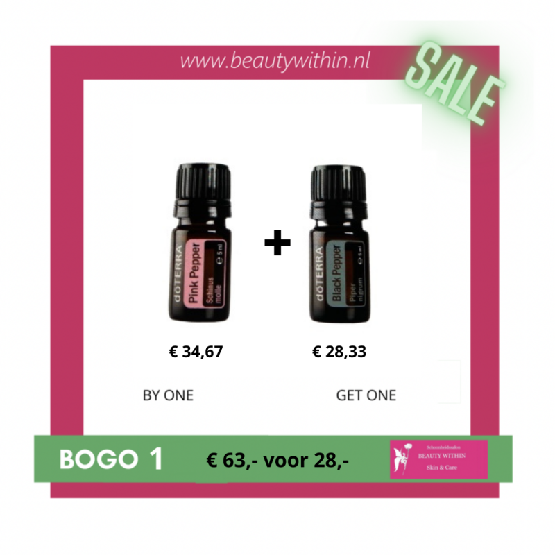 BOGO 1 - Pink Pepper met gratis Black Pepper