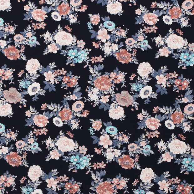 flowers in navy