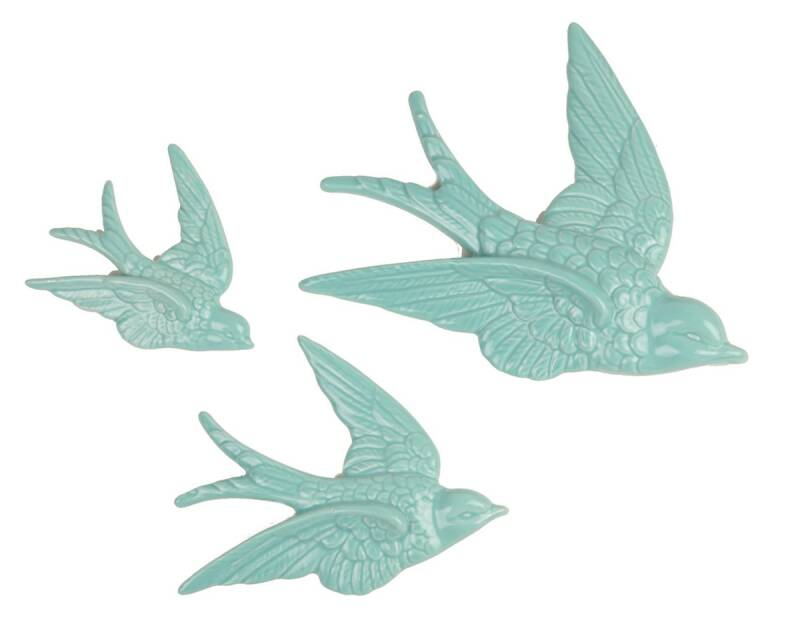 SWALLOW WALL DECORATIONS - SET OF 3