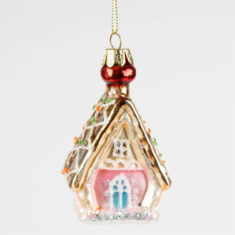PRINCESS GINGERBREAD HOUSE SHAPED BAUBLE