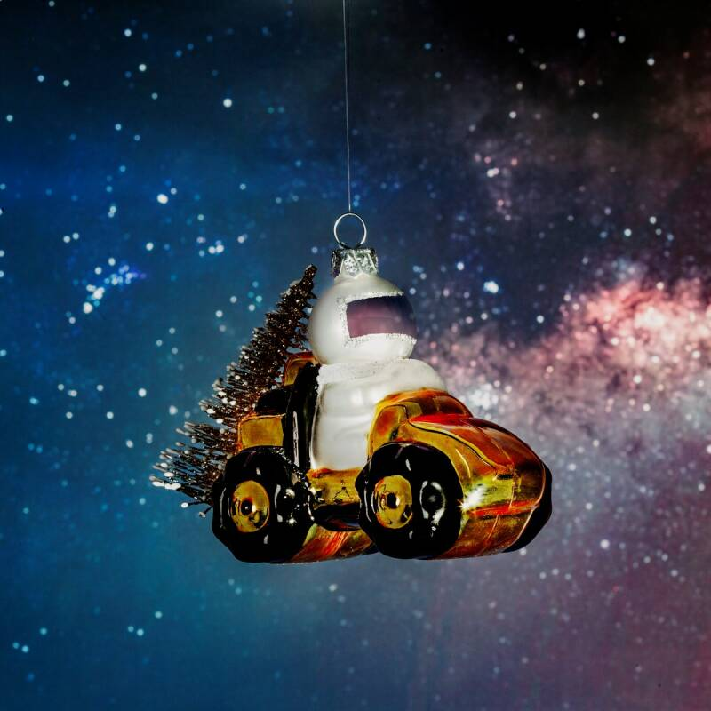 OUTER SPACE ASTRONAUT EXPLORER SHAPED BAUBLE