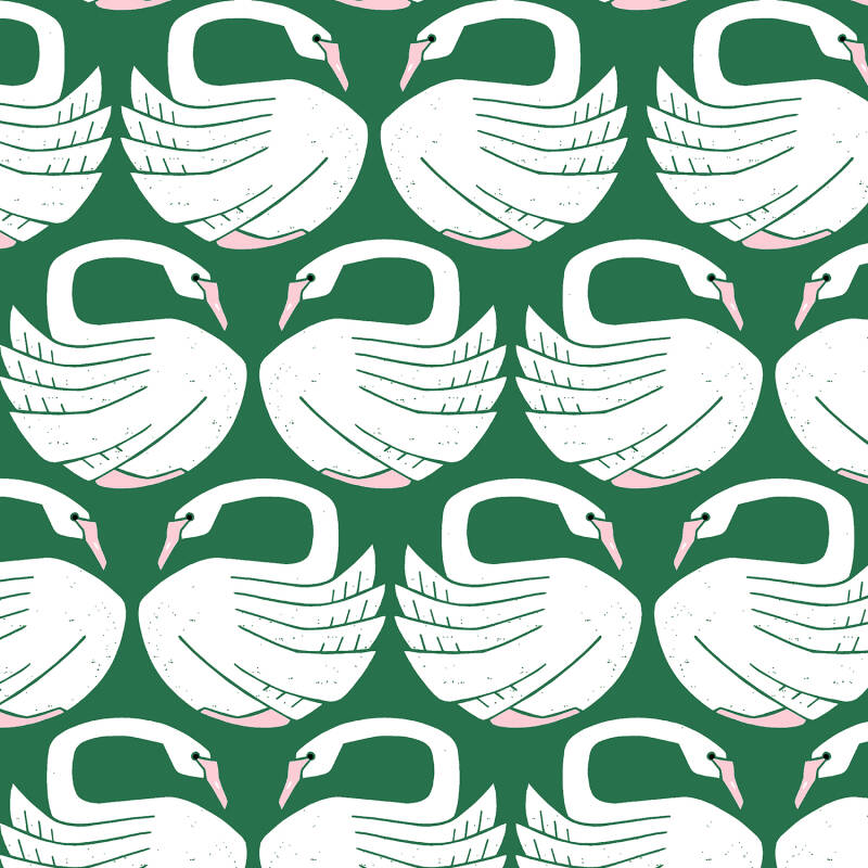 On a spring day - loving swans (Groen)