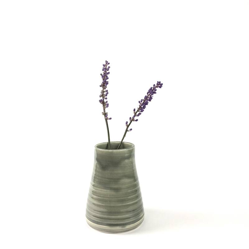 Handmade White Clay Grey Vase