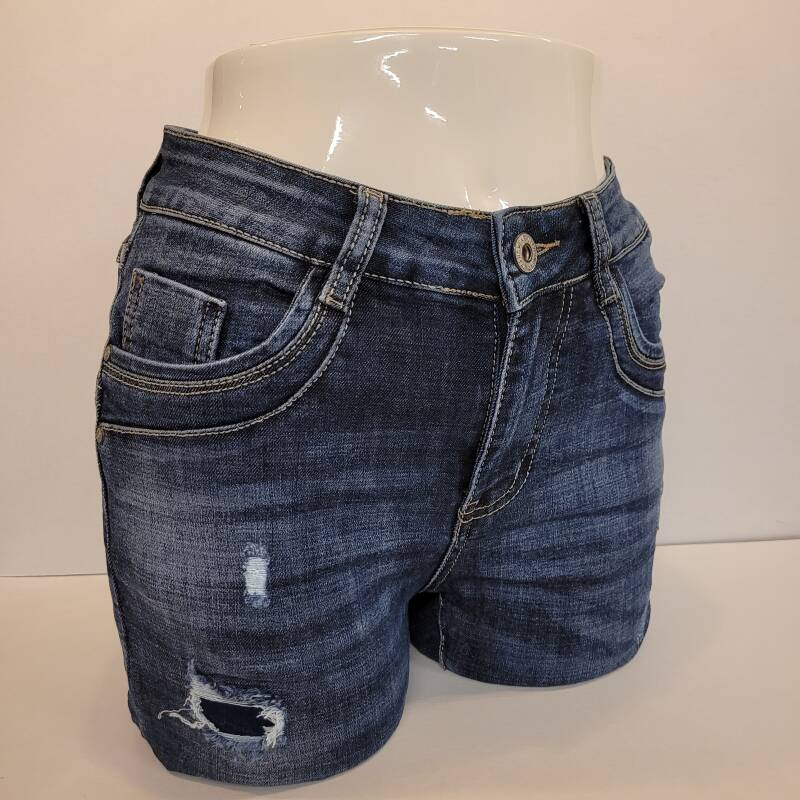 Jewelly ripped jeans met rits JW1586