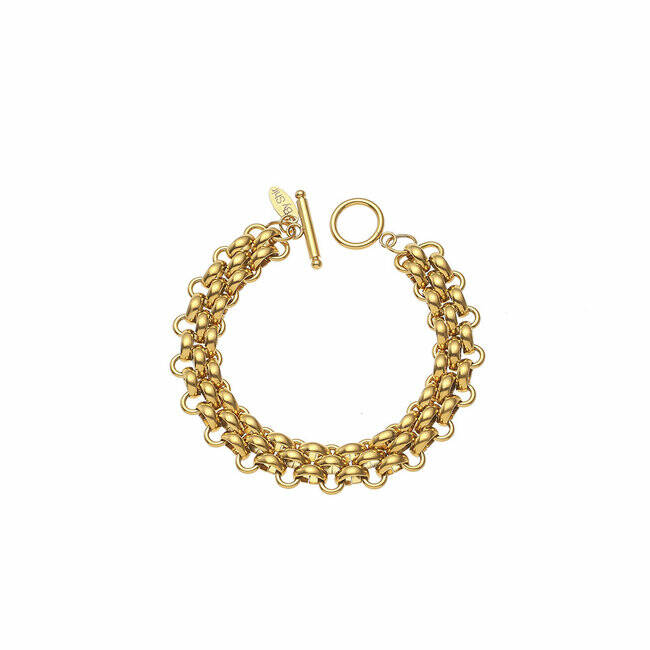 BY SHIR ARMBAND LUXE FLEUR GOUD OF ZILVER