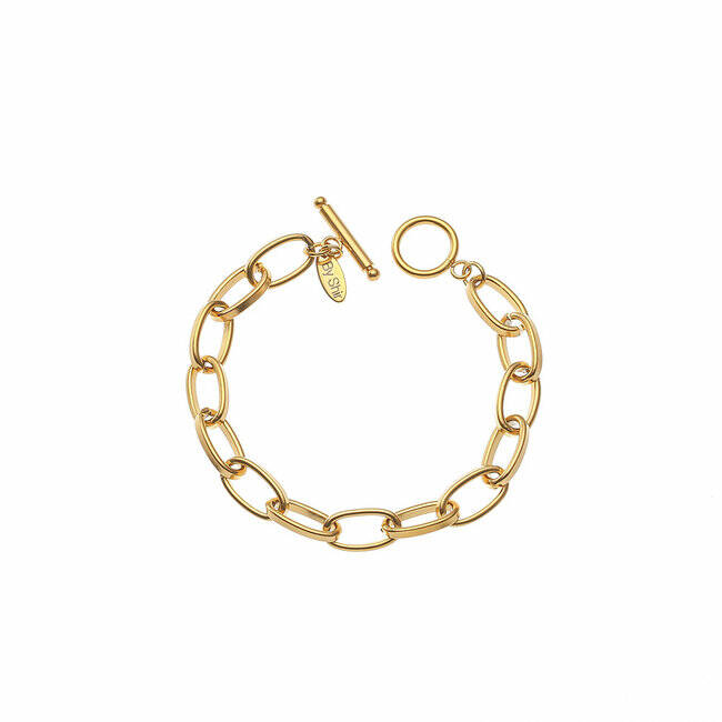 BY SHIR ARMBAND LUXE TESS GOUD OF ZILVER